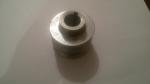 Шкив ведущий D=19 мм 2-х ручейковый с выступом  алюминевый к имп. двигателю Крот