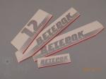 Наклейки на кожух верхний Ветерок-12 (комплект)